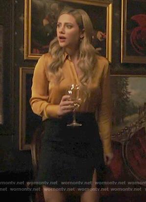 Betty's pinstripe mini skirt on Riverdale