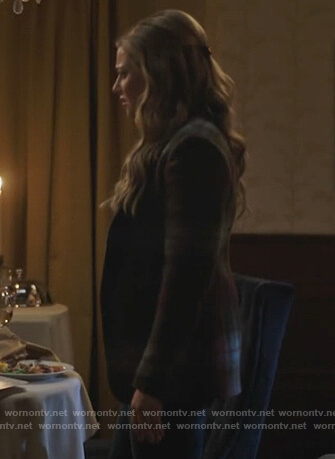 Betty's blue plaid puff sleeve blazer on Riverdale