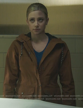 Betty's brown jacket with pockets on Riverdale