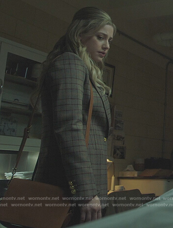 Veronica's black floral print robe and dress on Riverdale