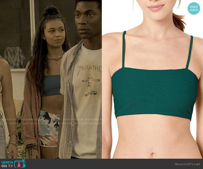 Billabong Tanlines Tank Bikini Top worn by Kiara Carrera (Madison Bailey) on Outer Banks