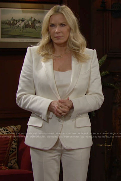 Brooke's white suit on The Bold and the Beautiful