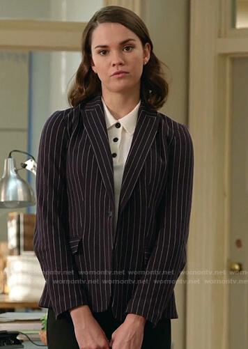 Callie's pinstripe blazer on Good Trouble