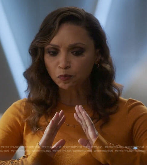 Cecile's yellow sweater on The Flash