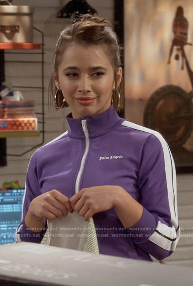 Celia's purple track jacket on Call Your Mother