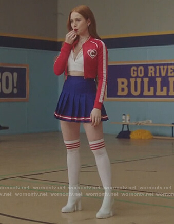 Cheryl's white boots on Riverdale