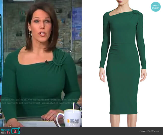 Chiara Boni La Petite Robe Hena Asymmetric Dress worn by Dana Jacobson  on CBS This Morning