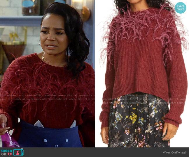 Cinq a Sept Melanie Sweater worn by Randi (Kyla Pratt) on Call Me Kat