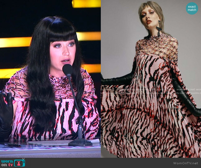 Summer Collection 2021 by Cong Tri worn by Katy Perry  on American Idol