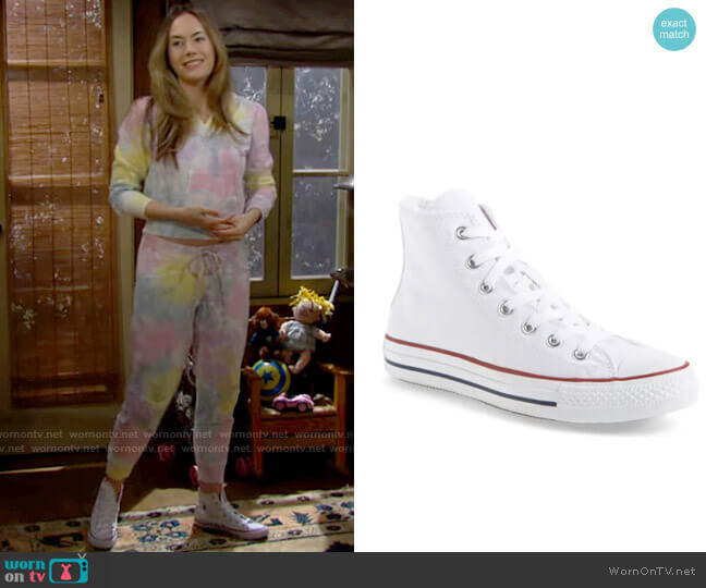 Converse Chuck Taylor High Top Sneakers worn by Hope Logan (Annika Noelle) on The Bold & the Beautiful