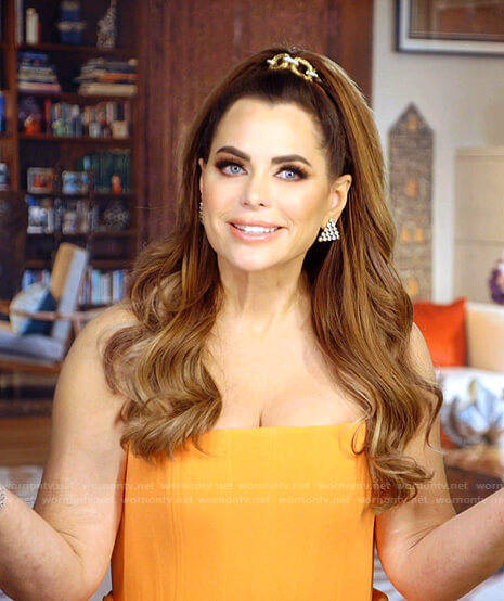 D'Andra's orange strapless dress on The Real Housewives of Dallas