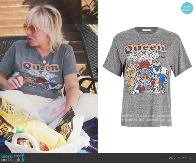 Royal Marl Everton Print T-Shirt C34 Womens Size 10