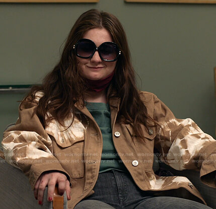 Debbie's brown tie dye jacket on Shameless