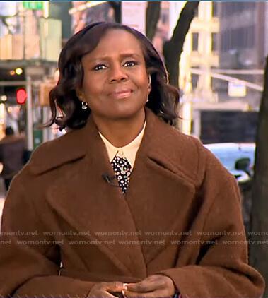 Deborah's floral blouse on Good Morning America