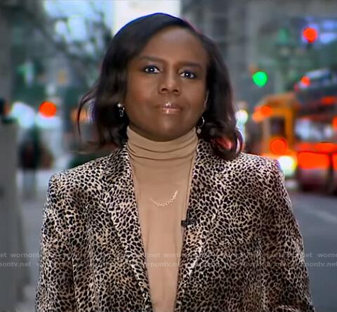 Deborah's leopard velvet coat on Good Morning America
