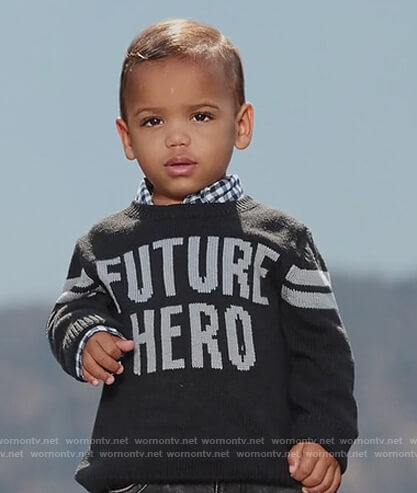 Devante's Future Hero sweater on Black-ish