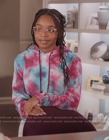 Diane's tie dye hoodie on Black-ish