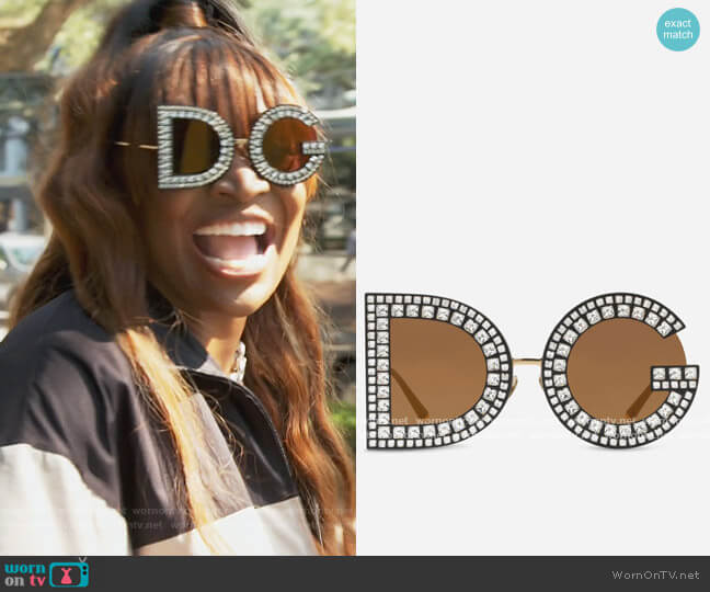 Glitter Sunglasses by Dolce & Gabbana