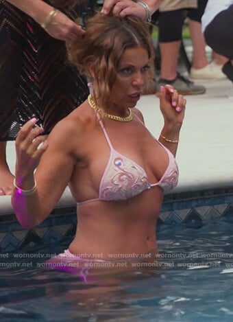 Dolores's pink embellished bikini on The Real Housewives of New Jersey
