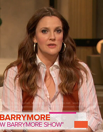 Drew Barrymore's striped shirt on Today