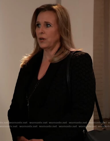 Laura's black blazer on General Hospital