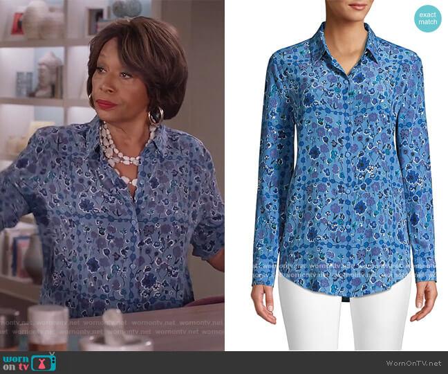 Essential Floral Silk Shirt by Equipment worn by Jenifer Lewis on Black-ish