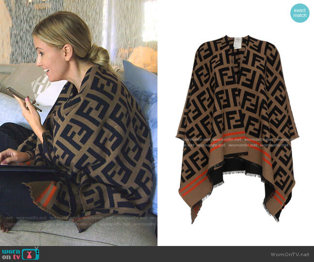 Poncho FF by Fendi worn by Stephanie Hollman  on The Real Housewives of Dallas