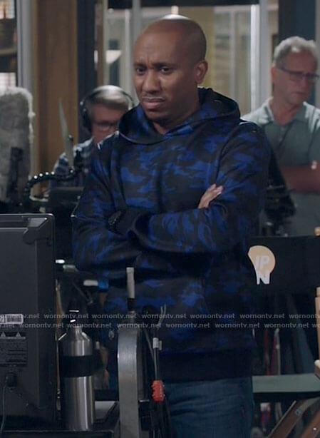 Gary's blue camo hoodie on Kenan