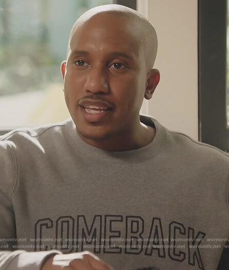 Gary's gray comeback sweatshirt on Kenan