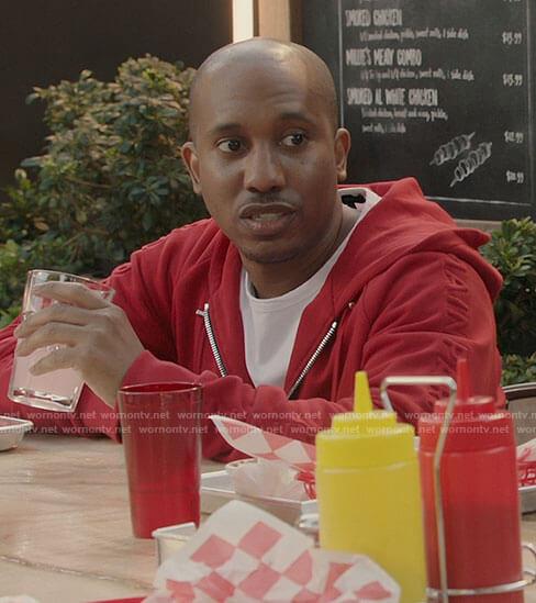 Gary's red hoodie on Kenan