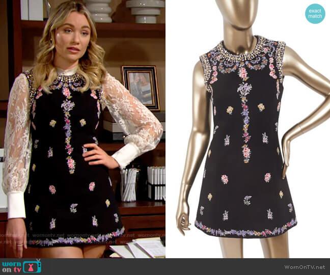 Giambattista Valli for H&M Floral Dress worn by Flo Fulton (Katrina Bowden) on The Bold & the Beautiful