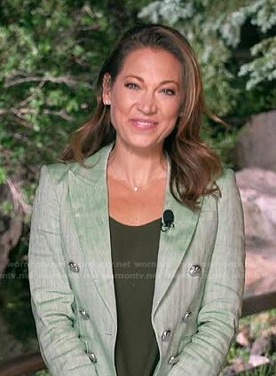Ginger's green striped blazer on Good Morning America