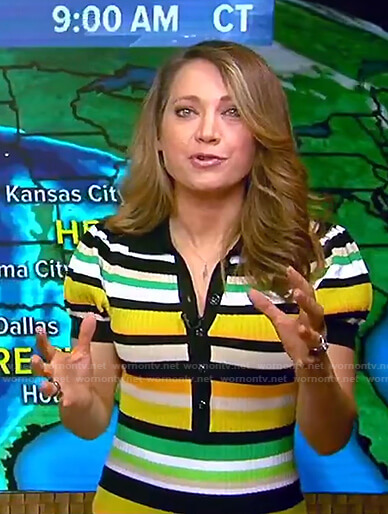 Ginger's multicolor striped polo dress on Good Morning America