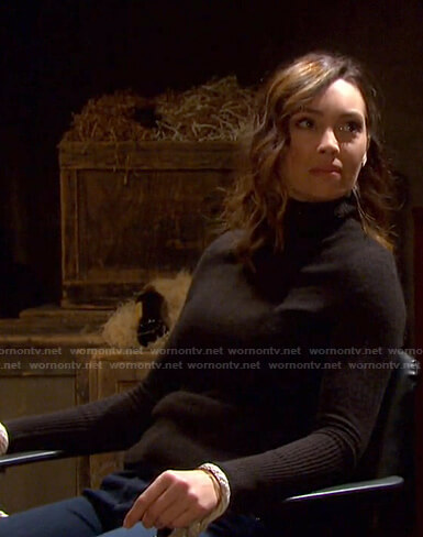 Gwen's black turtleneck sweater on Days of our Lives