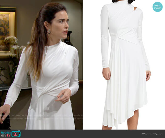 Halston Prisma Dress worn by Victoria Newman (Amelia Heinle) on The Young & the Restless