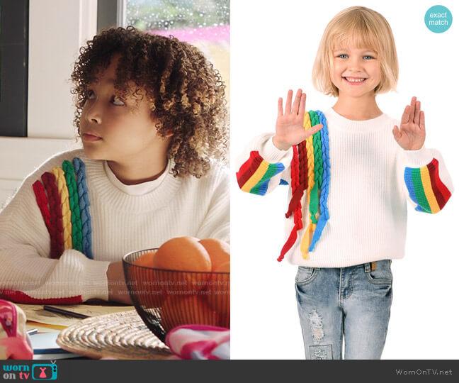 Hannah Banana Rainbow Sweater worn by Bridget Williams (Dannah Lane) on Kenan