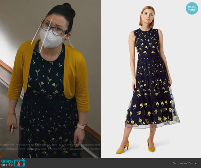 Bethany Embroidery Dress by Hobbs worn by Sherri Kansky (Ruthie Ann Miles) on All Rise