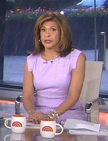 Hoda's lilac cap sleeve dress on Today