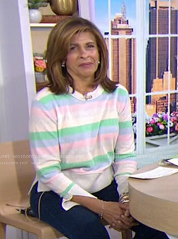Hoda's striped sweater on Today