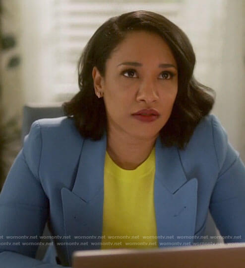 Iris's blue blazer on The Flash