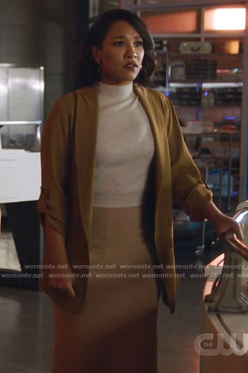 Iris's light brown jacket on The Flash