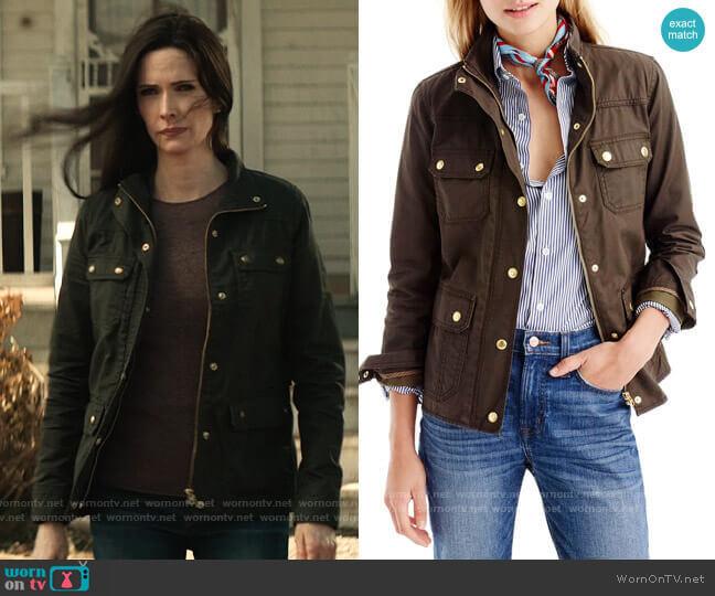 J. Crew The Downtown Field Jacket in Mossy Brown worn by Lois Lane (Elizabeth Tulloch) on Superman & Lois