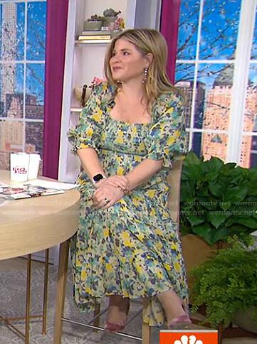 Jenna's floral smocked midi dress on Today