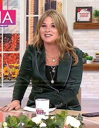 Jenna's green satin blazer on Today