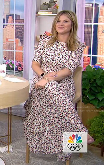Jenna's white floral maxi dress on Today