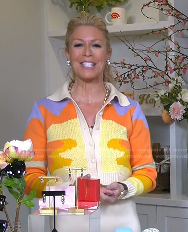 Jill's colorblock knit cardigan on Today