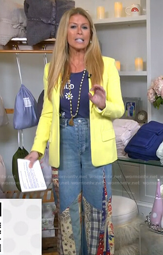 Jill's patchwork wide-leg jeans on Today