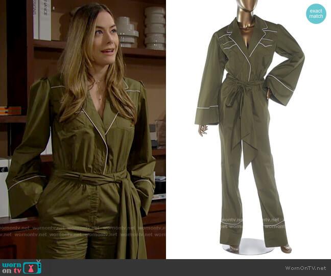 Johanna Ortiz Yerba Jumpsuit worn by Hope Logan (Annika Noelle) on The Bold & the Beautiful
