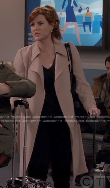 Julia's blush coat on B Positive