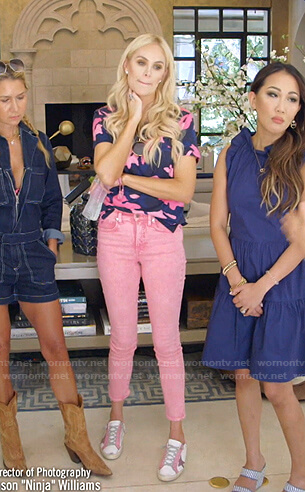 Kameron's camo tee and pink jeans on The Real Housewives of Dallas